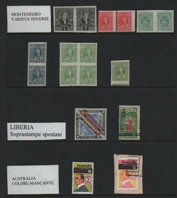 MONTENEGRO/LIBERIA: Mixed incl. Varieties - Ex-Old Time Collection: Page (21993)