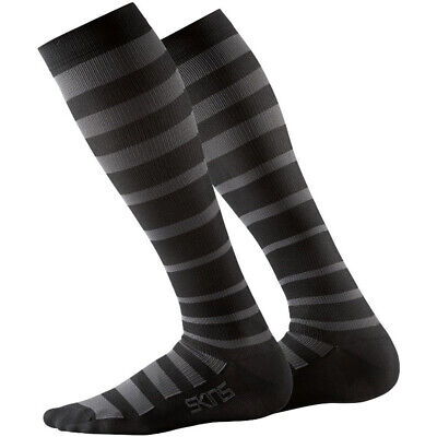 NEW Skins MX Essentials Mens Black/Charcoal Athlete Recovery Compression Socks
