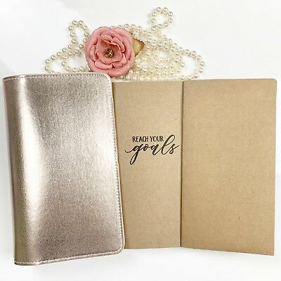 Hello Beautiful Rose Gold Travelers Notebook Webster's Pages