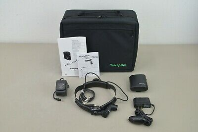 New Welch Allyn 49020 Procedure Headlight System w/Direct Power&Battery Pack C14