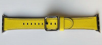 Apple Watch Leather Classic Buckle Strap 38/40mm SPRING YELLOW **RARE**