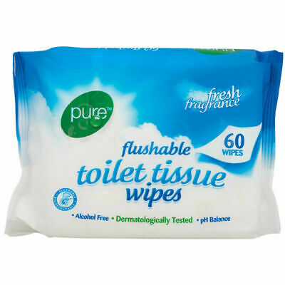Pure Flushable Toilet Tissue 60  Toilet Wipes Flushable Clean SoftTissues