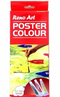 12 Color 12ml Paint Tube Draw Painting Poster Colour Set Drawing High Quality