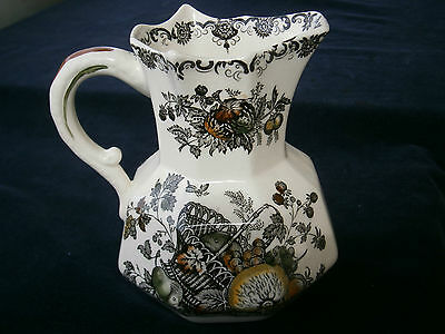 """Mason's jug with 8 sides """"fruit basket"""" Pattern - from England"""