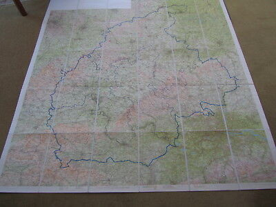 """Very large format 1/2"""" map of South East England: hardback, dissected cloth 1962"""