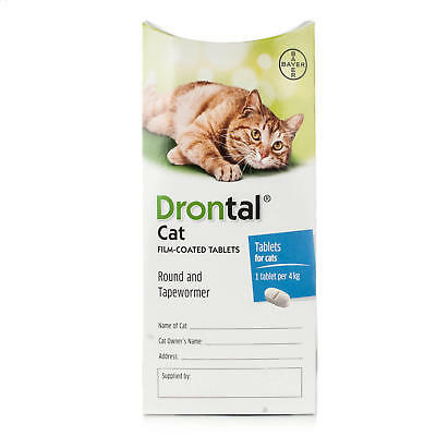 Drontal for Cats (8-Tablets) Genuine German Manufacture - NOT Asian Import!