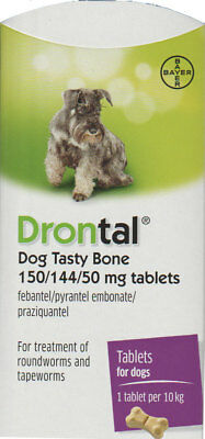 Drontal for Dogs (6-Tablets) Genuine German Manufacture - NOT Asian Import!