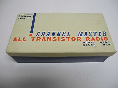 1960's Channel Master Model 6506 Transistor Radio Box with Accessories