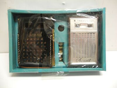 1960's Summit Maroon Color 6 Transistor Radio with Box and Accessories MINT