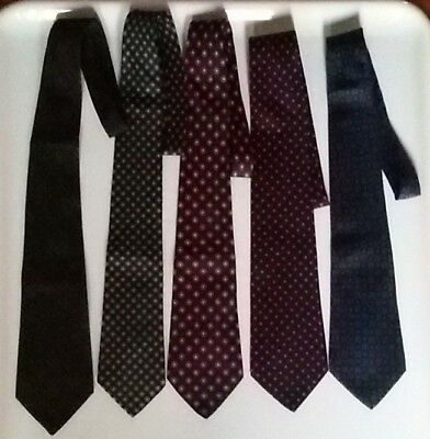 VINTAGE 1980s HOLLIDAY   BROWN LONDON LOT OF 5 NECKTIES CRAVATTE 100% SILK  SETA b12be5b8f7c