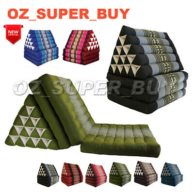 Jumbo Thai Triangle Pillow Mattress Cushion DayBed 3-FOLDS best gift more colour