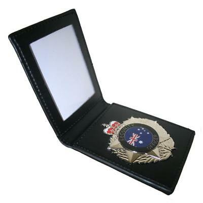 Security Officer Australia Star Badge With Leather ID Wallet