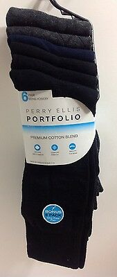 8de349585f Nwt Perry Ellis Portfolio Men s 6-Pack Dress Socks Multi Pattern Size 10-13