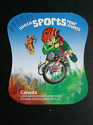 CANADA BOOKLET BK312 MNH 8 x 50c YOUTH SPORTS