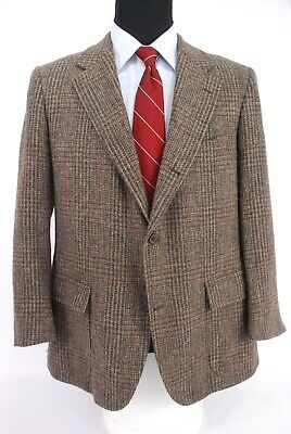 Brooks Brothers 3Roll2 Tweed Sport Coat Brown Plaid Check Men's 42R