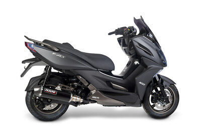 Exhaust maxiscooter 4 stroke black carbon - KYMCO K-XCT I ABS - Yasuni (Pe) .