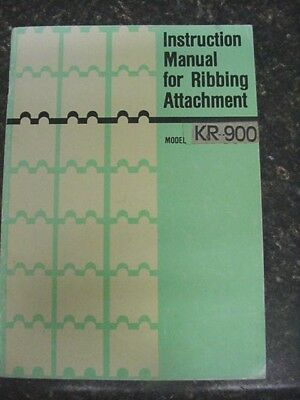 Instruction Manual for Ribbing Attachment Model KR-900