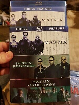The Complete Matrix Trilogy (Blu-ray Disc, 2014, 3-Disc Set) new w slipcover