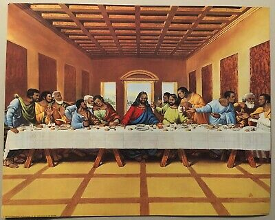 Black African American The Last Supper Art Wall Print Jesus Christ 16x20 Poster