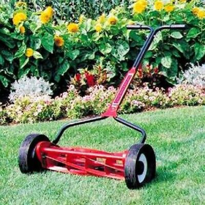 """***Mascot Silent Cut 18"""" Red Push Reel Lawn Mower (No Need to Use Gas Ever***)"""