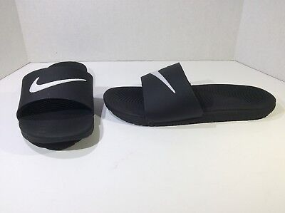 838bcec2a48a NIKE Kawa Slide Mens Size 11 Black White Slip On Slide Sandals Shoes F5-193
