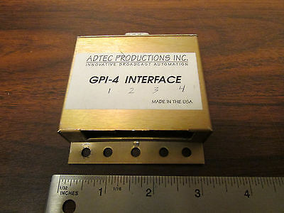 Adtec Productions GPI-4 Interface Rare Commercial Broadcast Video Device