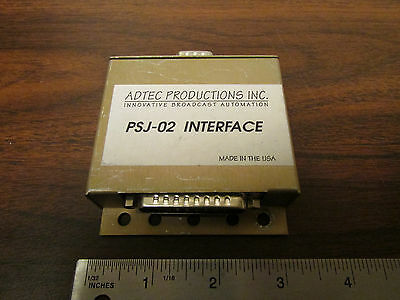 Adtec Productions PSJ-02 Interface Rare Commercial Broadcast Video Device