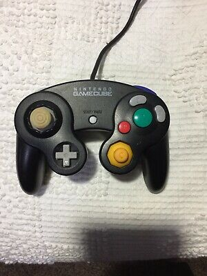 Official Nintendo Gamecube Controller Black Genuine Authentic OEM Original WORKS