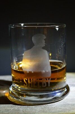 Hand Made Etched Whiskey glass/Tumbler-Peaky Blinders T.V. series-Shelby