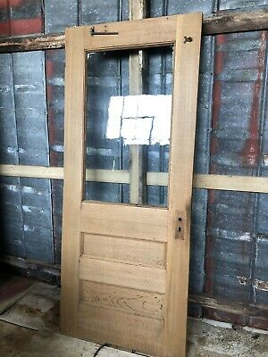 "Antique Quarter Sawn Oak Exterior Door Salvaged Door 36"" X 83"" X 1.75"""