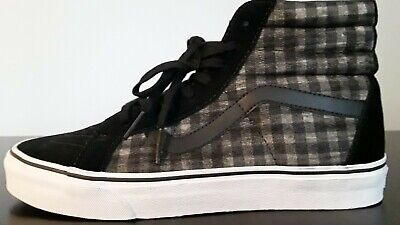 0e3fa94736249f NEW VANS Sk8-Hi Pro Checkers Suede Canvas Men s 9 Women s 10 Skate Off the