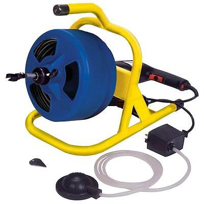 Compact Industrial Electric Plumbing Snake 5/16 in. x 50 ft. Cable Drum Machine