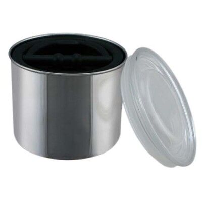 Counter Brushed Stainless Steel Coffee Canister Food Storage Container Organizer