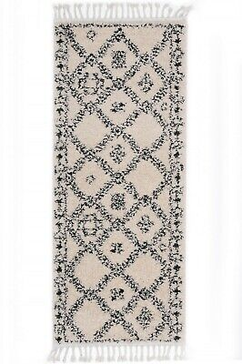 Hallway Runner Hall Rug Power Loomed Bohemian Design Ivory Modern Floor Rug Mat