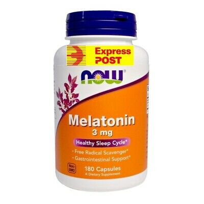 Melatonin, 3 mg, 180 Capsules Great Value