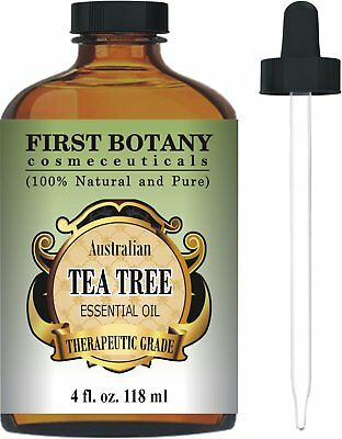 First Botany Tea Tree LARGE 4 OUNCE 100% Pure Essential Oil Best 4 fl oz.