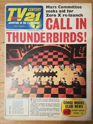 Tv Century 21 Issue 102 Thunderbirds, Stingray, Fireball Xl5, The Daleks! Vg.
