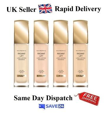 Max Factor Radiant Lift Foundation All Day Hydration, SPF 30, Sealed – Choose
