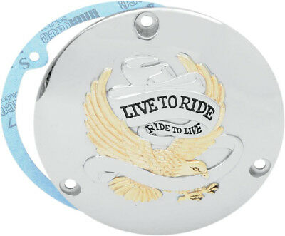 Live to ride derby cover gold 3-hole - HARLEY DAVIDSON GLIDE CLASSIC SOFTAIL ...