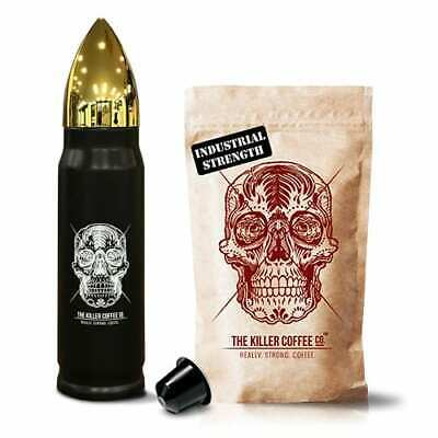 Killer Coffee Capsules + Bronze Bullet Flask - Nespresso Capsules Strong Coffee