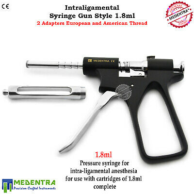 Dentist Intraligamental Syringe Anesthetic 1.8ml Gun Style Surgical Instruments