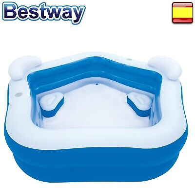 Piscina hinchable jacuzzi Bestway familiar 2,13m x 2.06m x 69cm