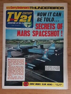 Tv Century 21 Issue 99 Thunderbirds, Stingray, Fireball Xl5, The Daleks! Vg.