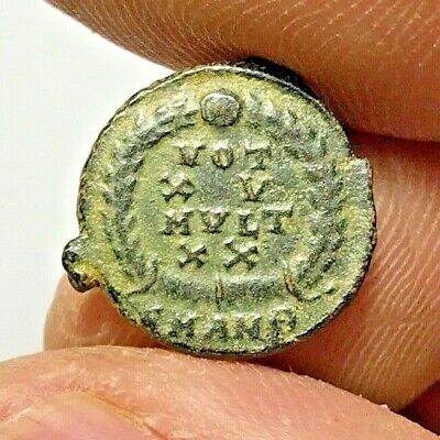 ANCIENT ROMAN BRONZE COIN UNCERTAIN 2gr 15mm
