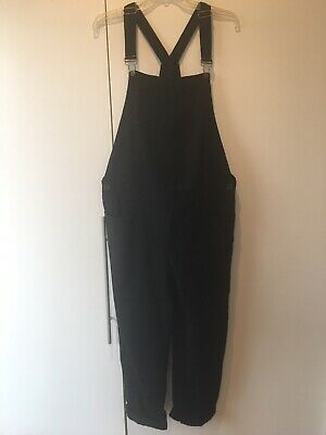 Hatch Collection Black Maternity Woven Overalls Size 2
