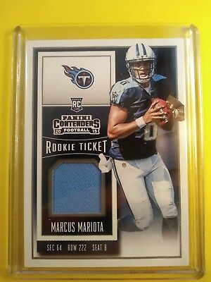 2015 Contenders Marcus Mariota Tennessee Titans Rookie Jersey Card Swatch  Relic b69a96c53