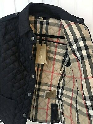 Burberry Brit Women S Black Copford Diamond Quilted Jacket