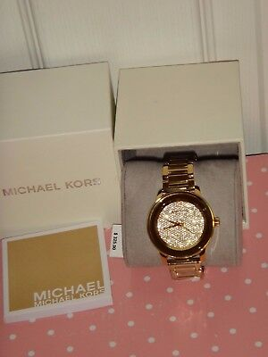 03a59a120610 Michael Kors Kinley Women s Watch Gold S  Steel CRYSTALS PAVE DIAL 42mm  MK6209
