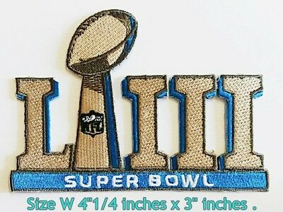 NFL Football SB  53 Sport Patch Logo Embroidery Iron on,Patch on,Sewing on cloth