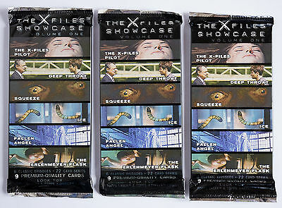 TRADING CARDS/CARTES A COLLECTIONNER X-FILES SHOWCASE - x3 BOOSTERS SEALED
